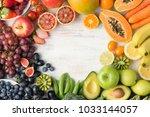 healthy eating  varieity of... | Shutterstock . vector #1033144057