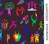 people logo sport vector...   Shutterstock .eps vector #1033144579