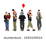 fathers day set  group of... | Shutterstock .eps vector #1033145014