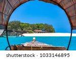 prison island. zanzibar ... | Shutterstock . vector #1033146895
