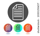 paper icon vector. document icon | Shutterstock .eps vector #1033150657
