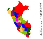 political map of peru | Shutterstock .eps vector #1033152709