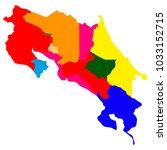 political map of costa rica | Shutterstock .eps vector #1033152715