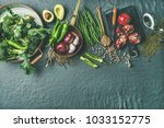 winter vegetarian  vegan food... | Shutterstock . vector #1033152775