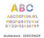 vector modern trendy alphabet... | Shutterstock .eps vector #1033154629