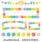 set of celebration party... | Shutterstock .eps vector #1033155001