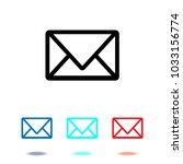 envelope icon vector. mail... | Shutterstock .eps vector #1033156774