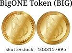 set of physical golden coin...   Shutterstock .eps vector #1033157695
