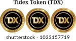 set of physical golden coin...   Shutterstock .eps vector #1033157719