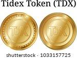 set of physical golden coin...   Shutterstock .eps vector #1033157725