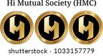 set of physical golden coin hi... | Shutterstock .eps vector #1033157779