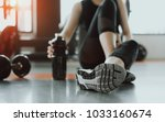 woman exercise workout in gym... | Shutterstock . vector #1033160674