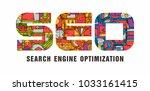 seo banner vector | Shutterstock .eps vector #1033161415