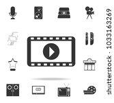 cinematographic tape icon. set... | Shutterstock .eps vector #1033163269