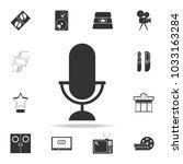 microphone icon. set of cinema  ...