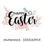 happy easter hand sketched... | Shutterstock .eps vector #1033163914