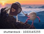 team work. egg boy helping to... | Shutterstock . vector #1033165255