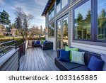 new construction home exterior... | Shutterstock . vector #1033165885