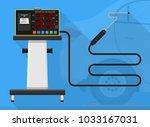 vehicle emission testing car...   Shutterstock .eps vector #1033167031