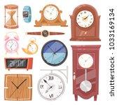clock vector watch with...   Shutterstock .eps vector #1033169134