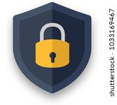 cyber security flat icon design ... | Shutterstock .eps vector #1033169467