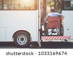 disabled bus concept   disabled ... | Shutterstock . vector #1033169674
