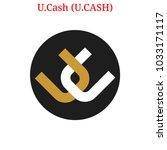 vector u.cash  u.cash  digital...   Shutterstock .eps vector #1033171117