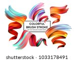 set of colorful brush strokes.... | Shutterstock .eps vector #1033178491