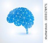 artificial intelligence concept.... | Shutterstock .eps vector #1033178971