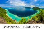 scenic panoramic top view of... | Shutterstock . vector #1033180447