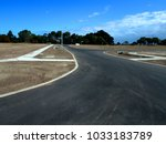 streets ready in new estate... | Shutterstock . vector #1033183789