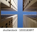 building architacture and blue... | Shutterstock . vector #1033183897