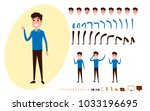 freelance character creation... | Shutterstock .eps vector #1033196695