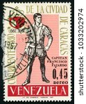 venezuela   circa 1967  post... | Shutterstock . vector #1033202974