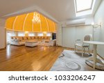 interior of a luxury dome... | Shutterstock . vector #1033206247