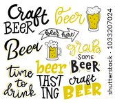 set of lettering quotes  beer... | Shutterstock .eps vector #1033207024