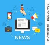 news. modern flat design style...   Shutterstock .eps vector #1033207999