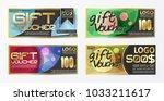 gift certificate voucher coupon ...   Shutterstock .eps vector #1033211617