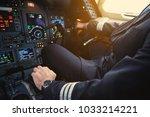 Close Up Aviator Hand Working...