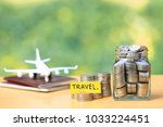 saving planning for travel... | Shutterstock . vector #1033224451