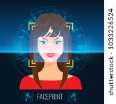 vector face recognition or...   Shutterstock .eps vector #1033226524