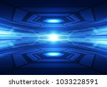 abstract vector blue technology ... | Shutterstock .eps vector #1033228591