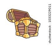 treasure box e sport logo | Shutterstock .eps vector #1033229011