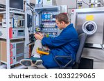 engineer working with digital... | Shutterstock . vector #1033229065