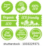 illustration of the eco labels... | Shutterstock . vector #1033229371