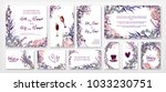 wedding invitation frame set  ... | Shutterstock .eps vector #1033230751