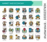 market and economy   thin line... | Shutterstock .eps vector #1033237654