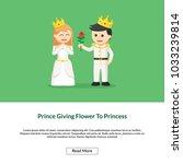 prince giving flower to... | Shutterstock .eps vector #1033239814