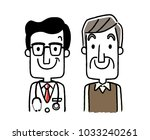senior male doctor and patient | Shutterstock .eps vector #1033240261