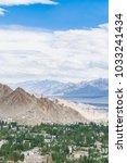 top view of leh ladakh city...   Shutterstock . vector #1033241434